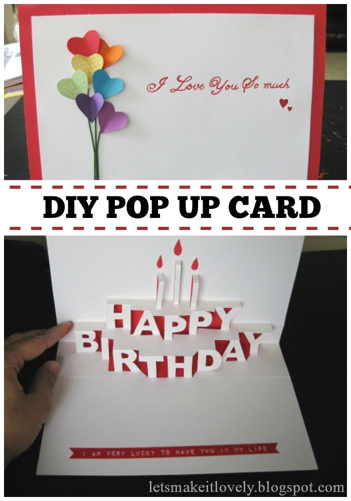 homemade pop up birthday cards