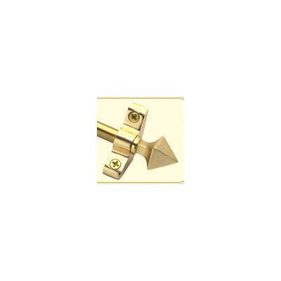 "Zoroufy Inspiration 36"" Stair Rod Set with Pyramid Finials Finish: Brushed Brass"