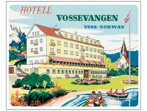 Hotell Vossevangen, Voss-Norway Kunsttrykk