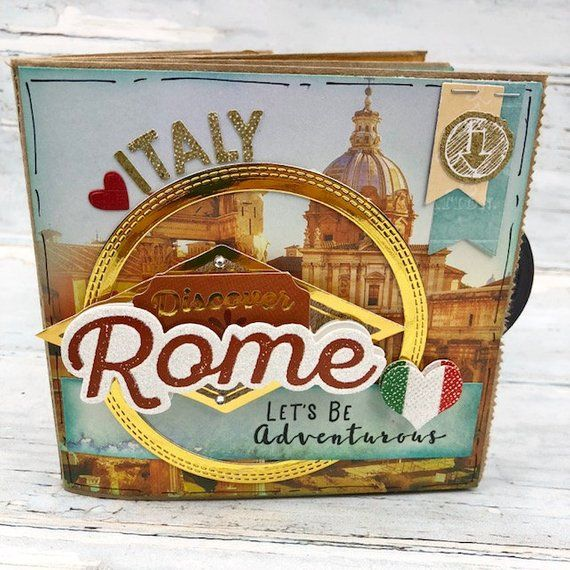 Rome Scrapbook Travel Journal For Europe 6 Premade Scrapbook