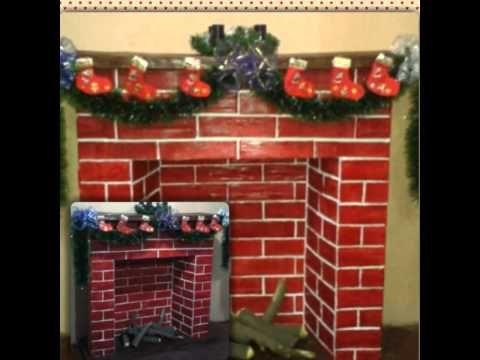 Como hacer una chimenea de cart n youtube chimeneas - Chimeneas artificiales decorativas ...