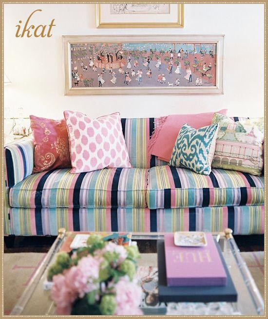 Interior Design magazine Jun/Jul 2010 Design by: Elizabeth Bauer #laylagrayce #ikat