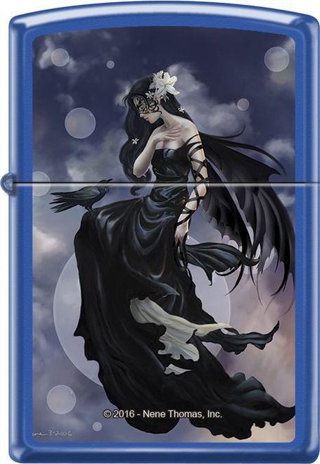 Dark Skies By Nene Thomas Blue Matte Zippo Lighter Gothic Art Art Fantasy Art