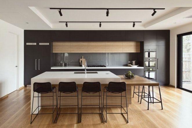 Design, Cuisine Contemporaine Avec Ilot Central 99 ~ Saint Etienne - Plan De Cuisine Moderne Avec Ilot Central