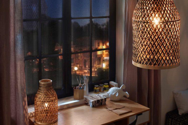 Lampes en bambou castorama 39 95u20ac déco salle à manger salon : idées