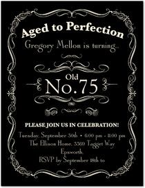 Aged To Perfection 75th Birthday Invitations