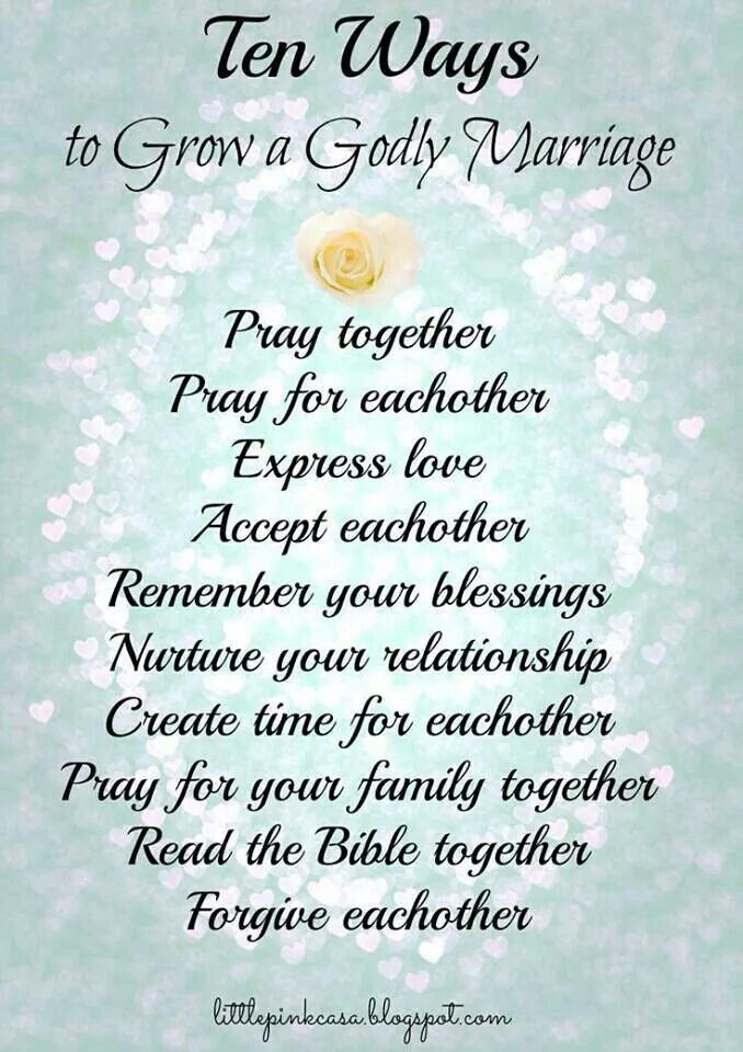 Rules to have a godly marriage | Faith / Quotes | Godly ...
