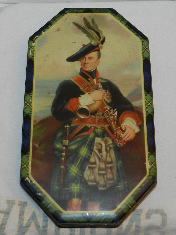 McVitie & Price Carnival English Biscuit Tin Box Vintage Scotland Duke of Clan #McVitiePrice $19.99 Free Shipping