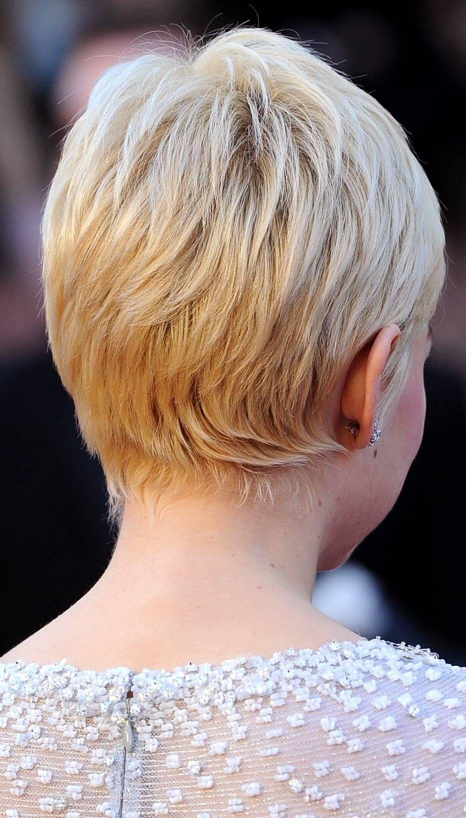Pixie Hair 20 Amazing Pixie Hairstyles Michelle Williams Hair Short Hair Styles Short Hair Back