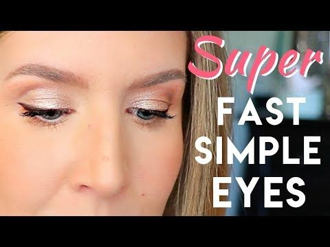 super quick and easy eye makeup for everyday  hooded eyes