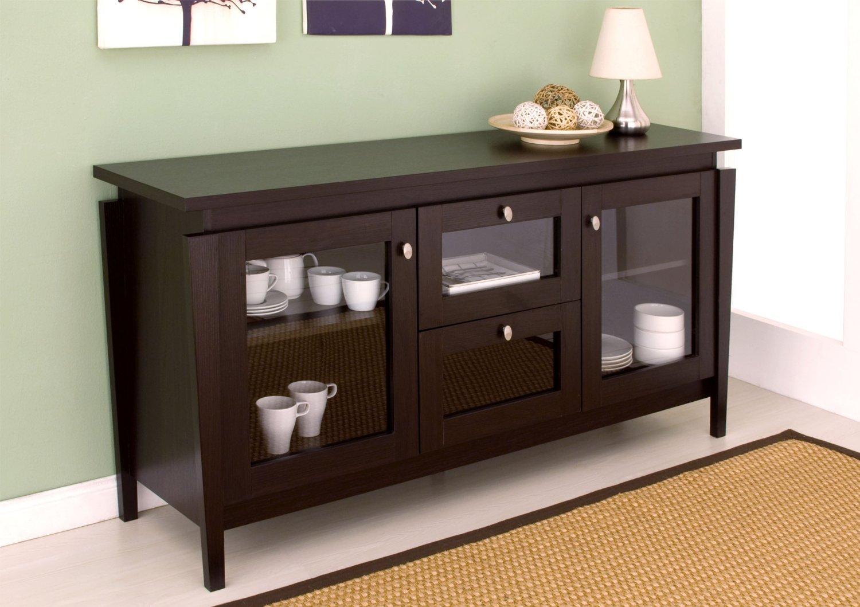 Amazon Com Furniture Of America Cedric Modern Buffet Espresso