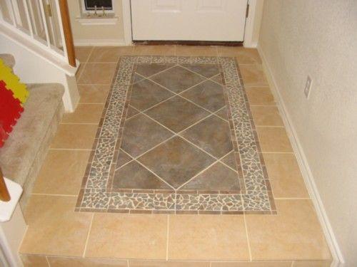 Pin By Traci Roberts On Bathroom Pinterest Tile Rug Tile Floor Living Room Foyer Flooring