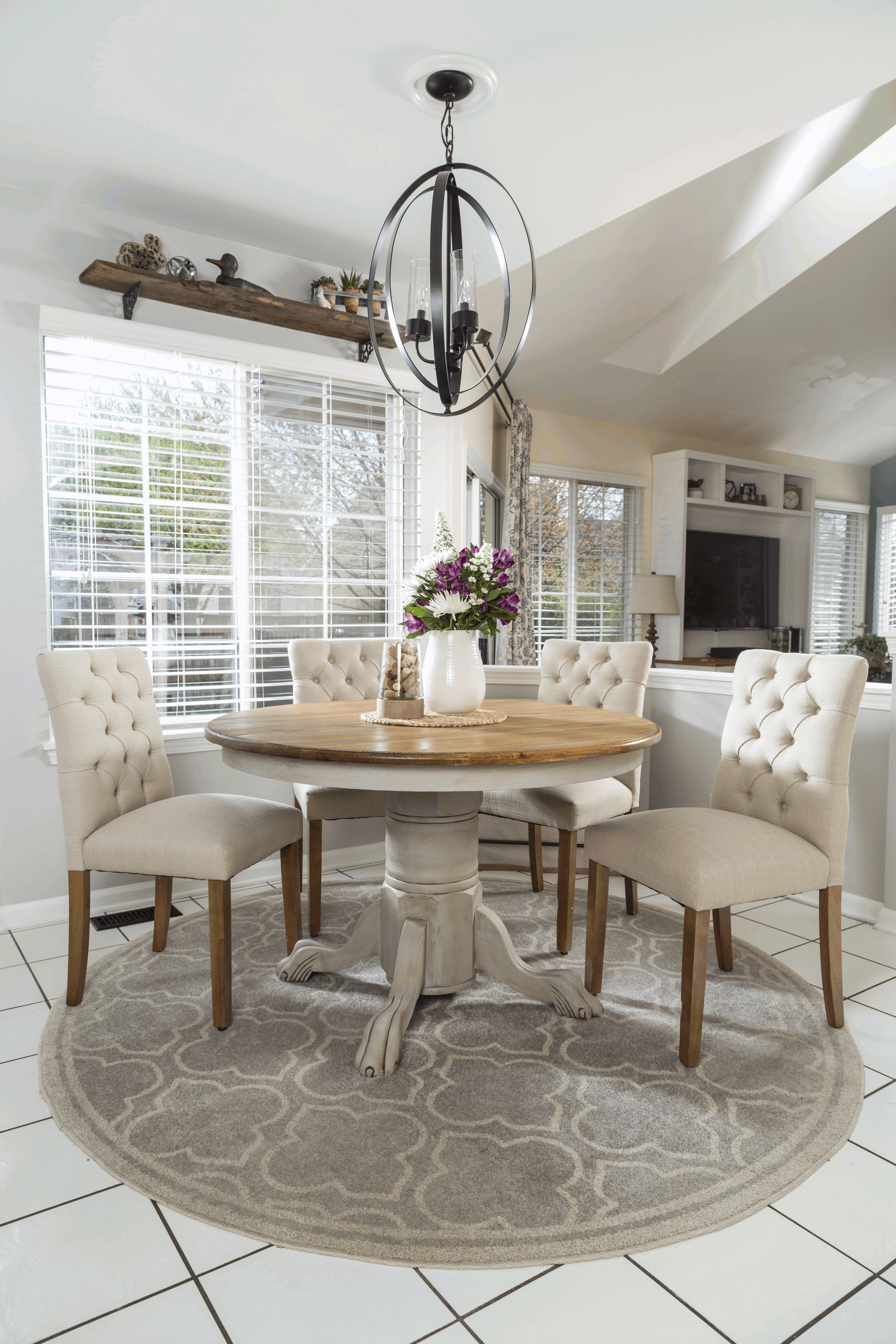 From drab to fab! This ordinary dining table gets an