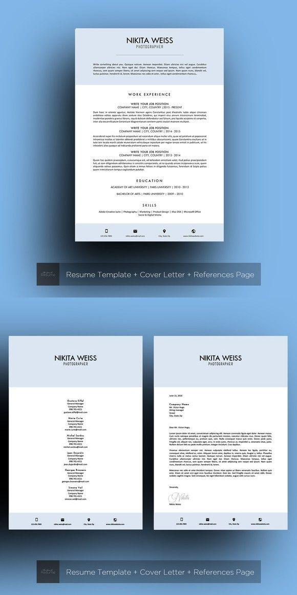 Resume / CV (MS Word) Nikita Printables $1500 Printables