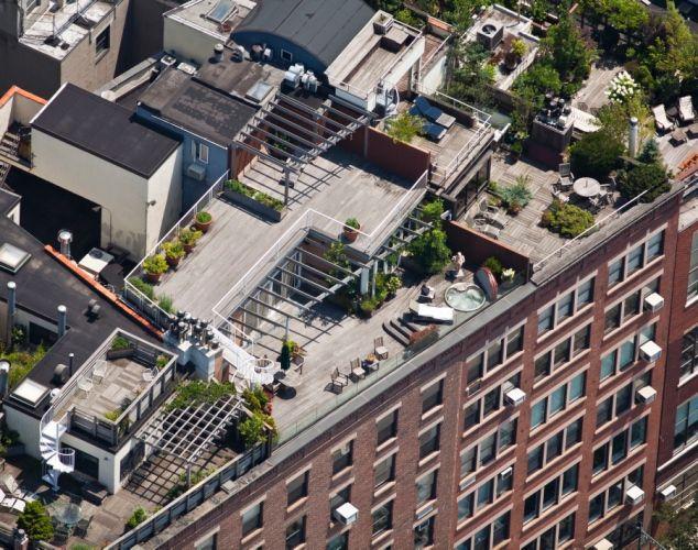 Aerial View Of New York City\'s Hidden Roof Top Garden Oases [18 ...