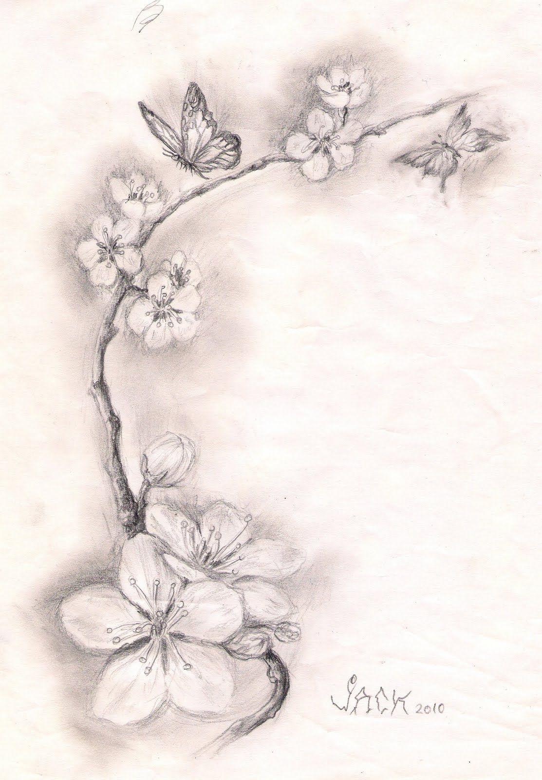 Dracones Tattoo Salon Tatuaje Bucuresti Sketch Cherry Blossoms Cherry Tattoos Blossom Tattoo Tattoos