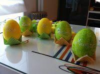 Bonjour a tous, voici ma décoration de table que j'ai faite pour Pâques...       Et voici en détails l'évolution de toute cette déco.  ...