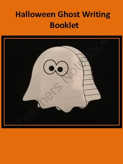Halloween Ghost Writing Booklet from FunTeach on TeachersNotebook.com (2 pages)