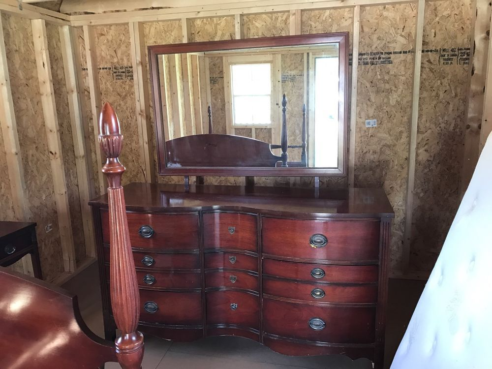 Antique Duncan Phyfe Serpentine Style Bedroom Set By Dixie Furniture  Original | EBay