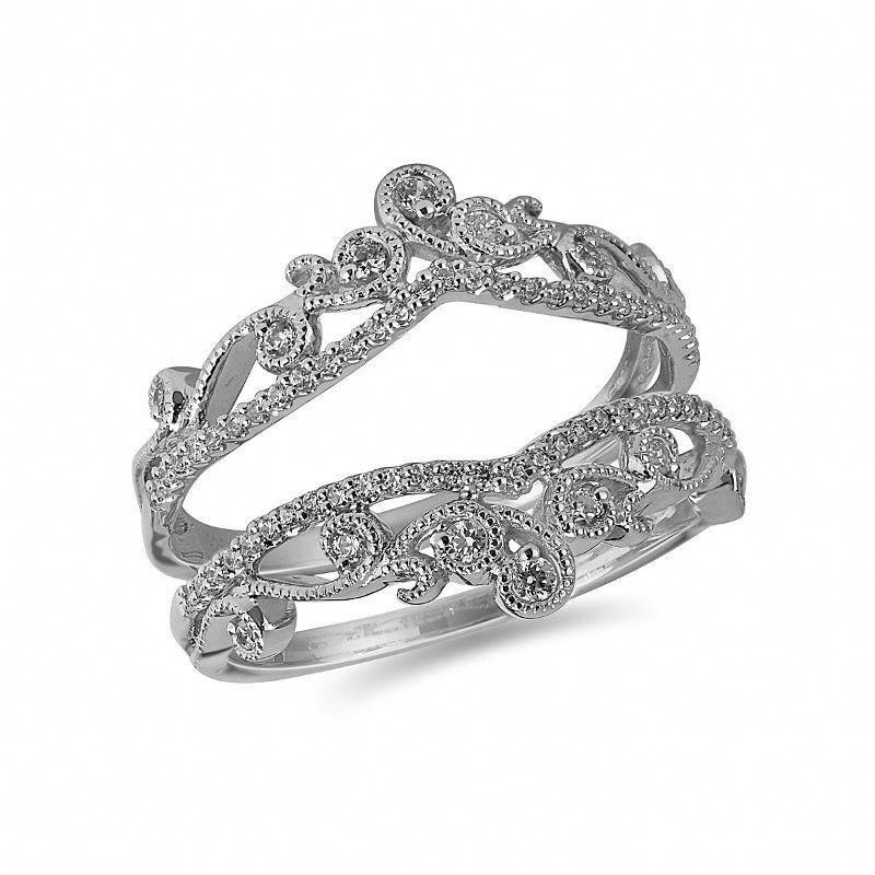 Buy White Gold Diamond Jacket Ring Online In Canada