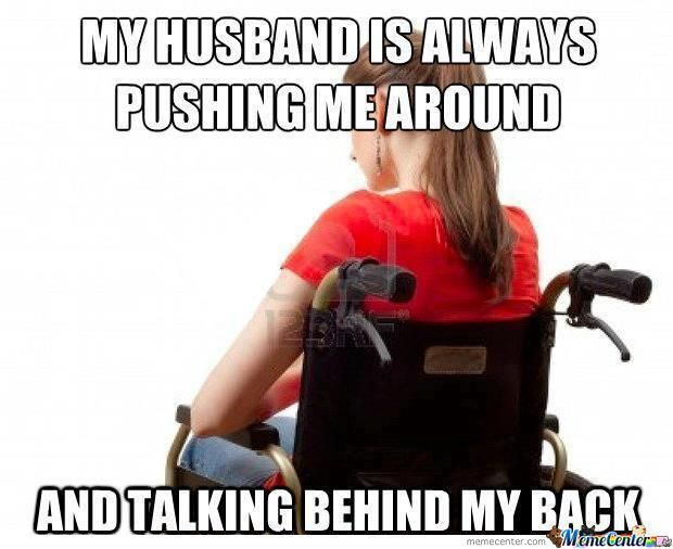 4fb19bf84da265abaf41254ca6b74f5a handicapped wife problem humor, hilarious and funny things