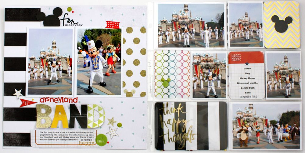 Disney Land *Heidi Swapp* Project Life - Scrapbook.com- Document your magical day in your Project Life album!