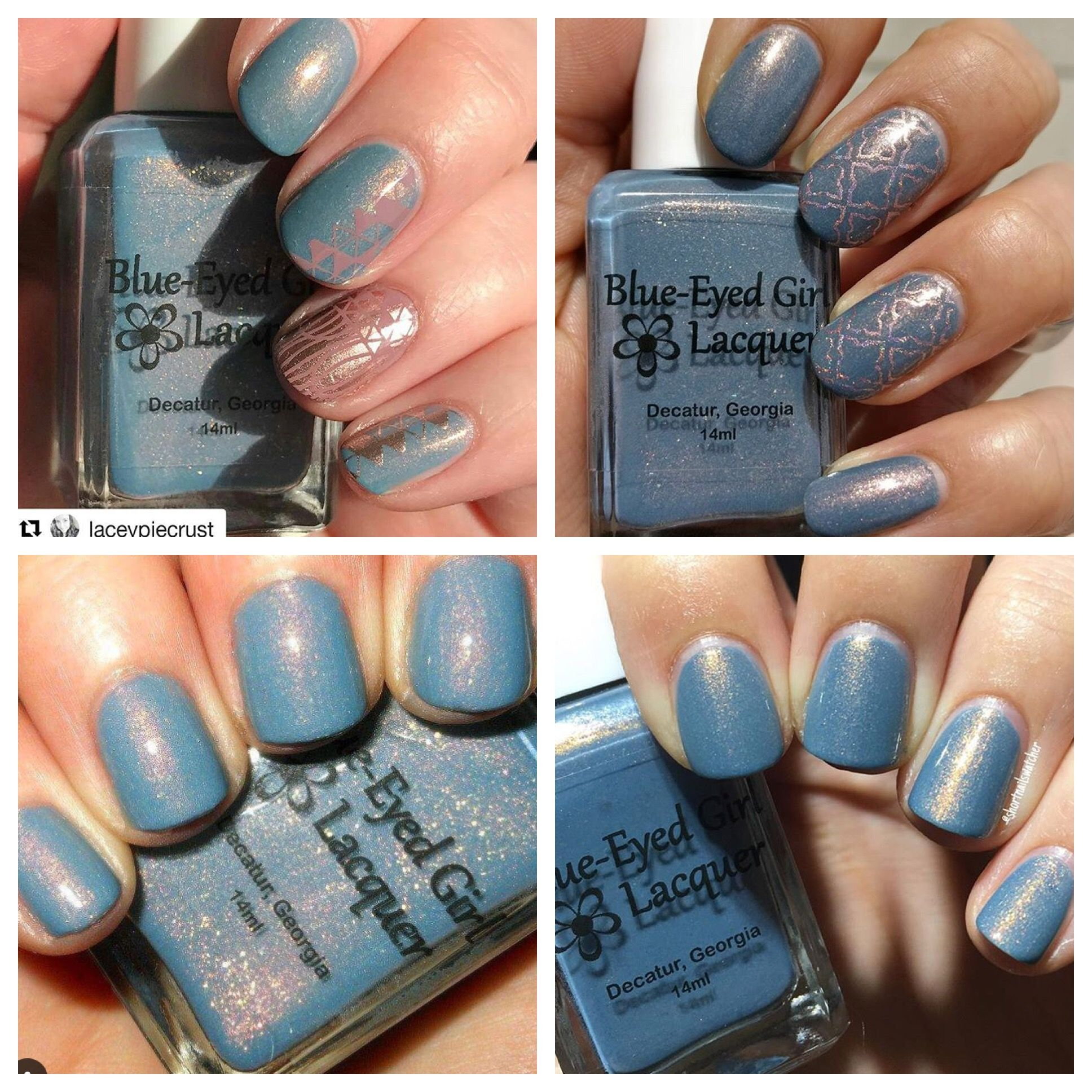 Blue Eyed Girl Lacquer Niagara Sunrise (March 2017 Blue Color Box ...