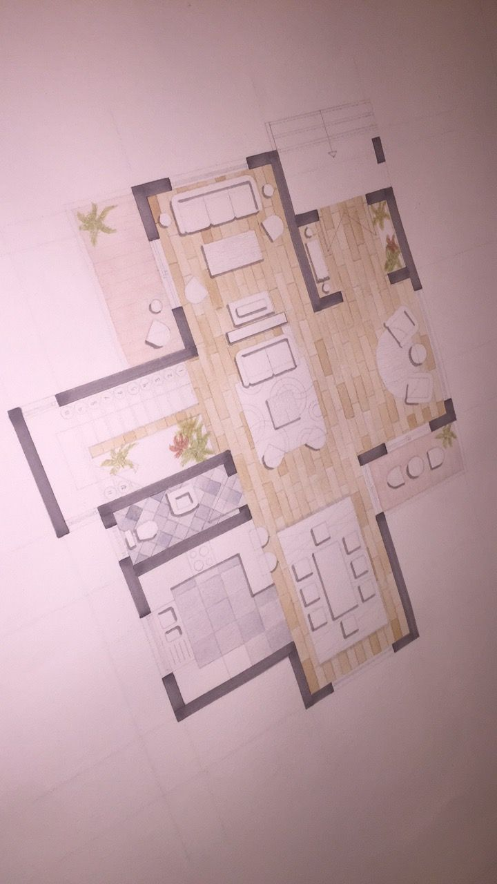 Final Result Floor Plan 2 After Minor Renovations Furniture And Interior Design