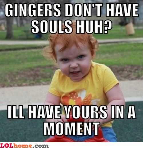 Gingers Funny Pic Ginger Jokes Redhead Funny Redhead Memes