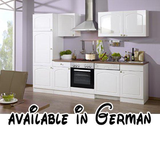 B00ABYGOGE  Held Möbel 6586039 Küchenzeile 280 in Hochglanz-weiß - küchenzeile hochglanz weiß