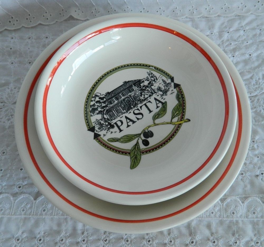 5 Pc Complete Ironstone Tableware Pasta Set 1 Serving u0026 4 Inidual Bowls Italy #IronstoneTableware & 5 Pc Complete Ironstone Tableware Pasta Set 1 Serving u0026 4 Inidual ...