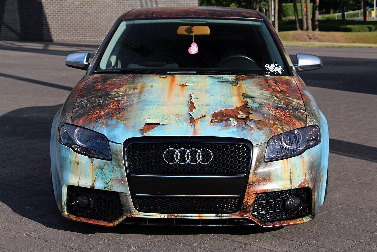 Audi A4 Lowered Wrapped By Signmania Audi Cars Car Wrap Audi A4