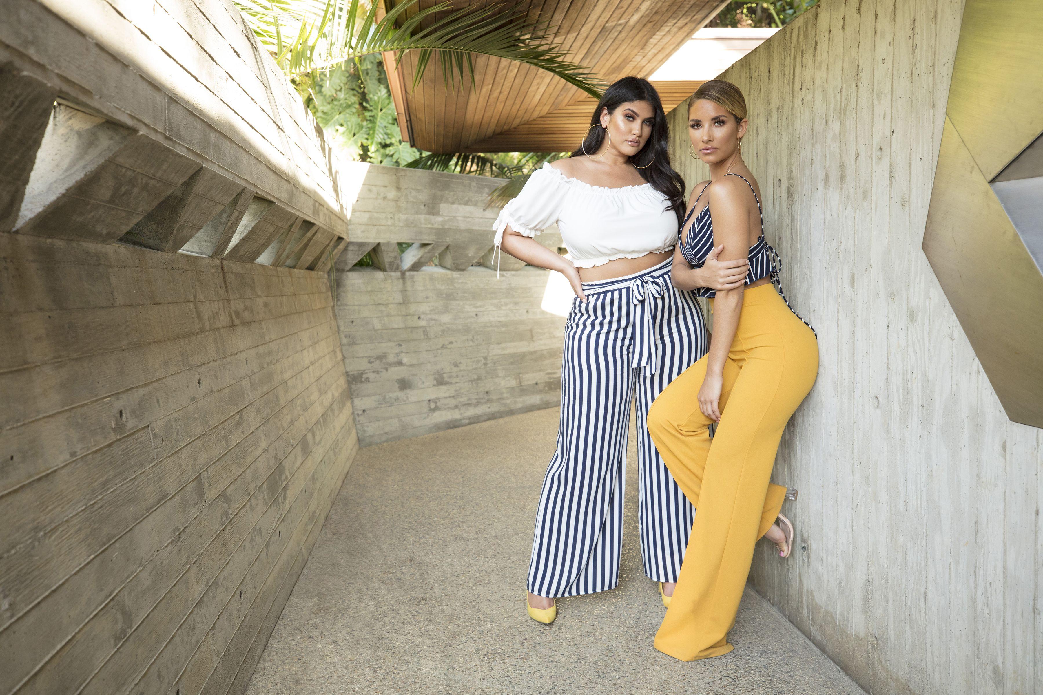 Brea Stripe Pants & Victoria High Waisted Dress Pants