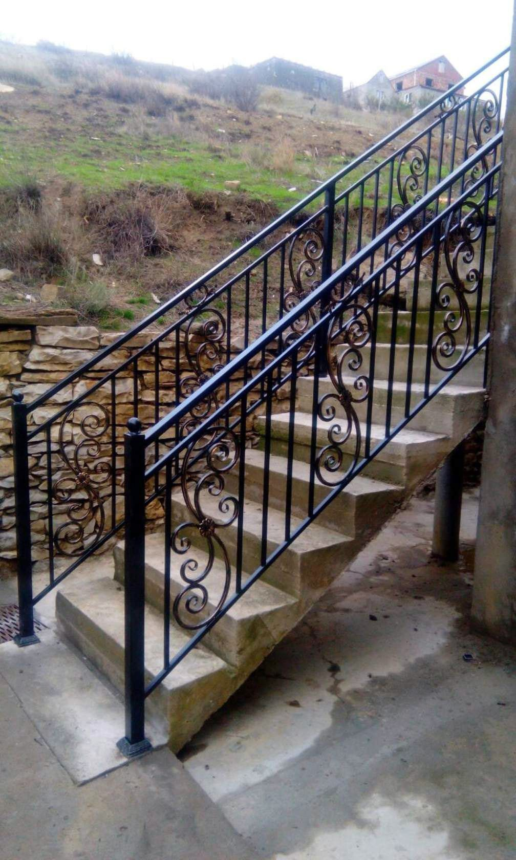 The Next Level 14 Stair Railings To Elevate Your Home Design | Outdoor Iron Staircase Designs | Gallery | Outdoor Balcony | Exterior | Curved Staircase Carpet | Wooden Staircase