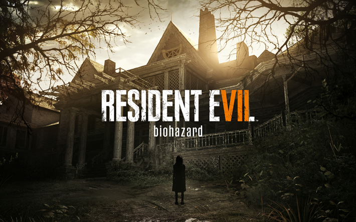 Download Wallpapers Resident Evil 7 Biohazard 2017 Survival Horror Computer Game Poster Besthqwallpapers Com Resident Evil 7 Biohazard Resident Evil Vii Resident Evil