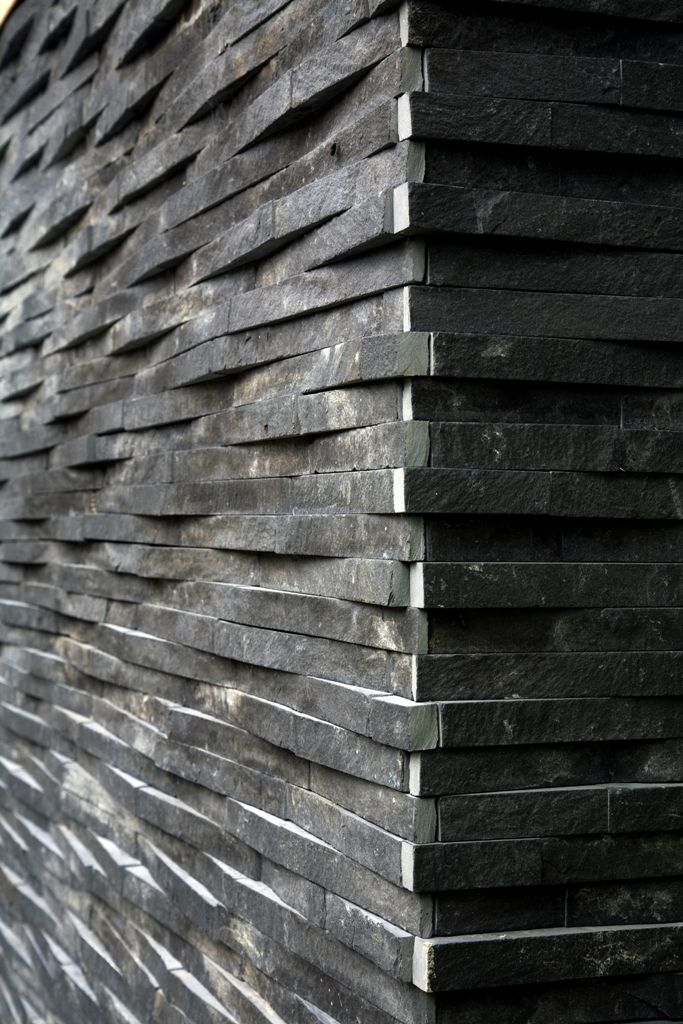 Classy approach to a corner using island stone rustic - Stone cladding on exterior walls ...