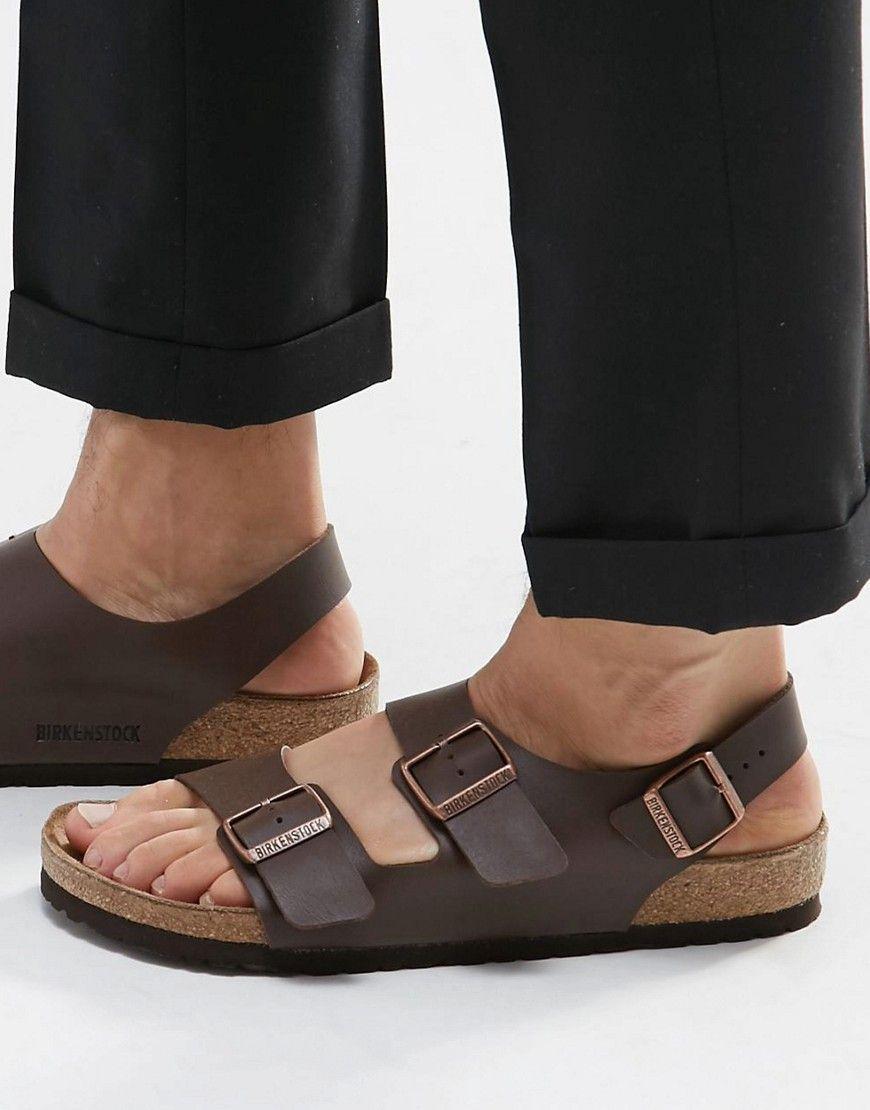por no mencionar Lavar ventanas fluctuar  Birkenstock Milano Sandals at asos.com | Mens sandals fashion, Flat shoes  outfit, Heel sandals outfit