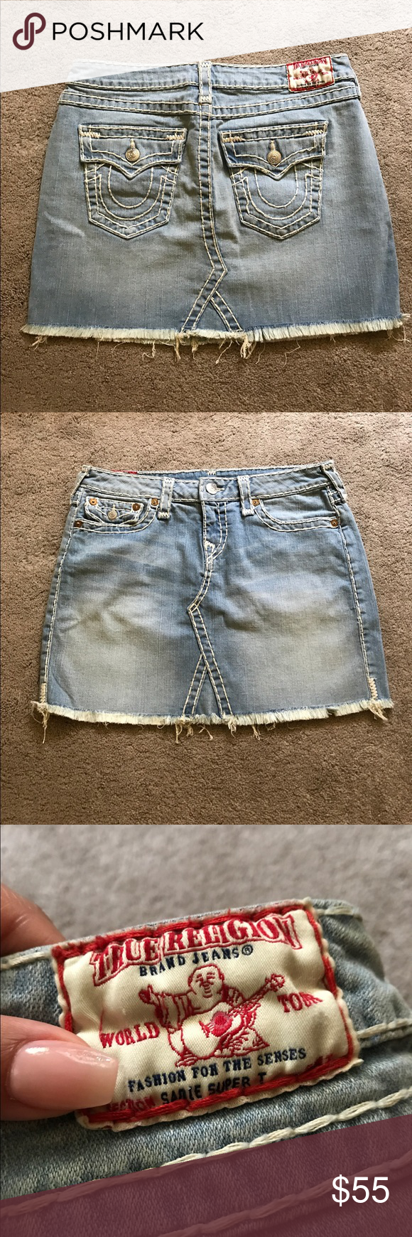 True religion denim skirt True Religion denim skirt. Size 30 True Religion Skirts Mini