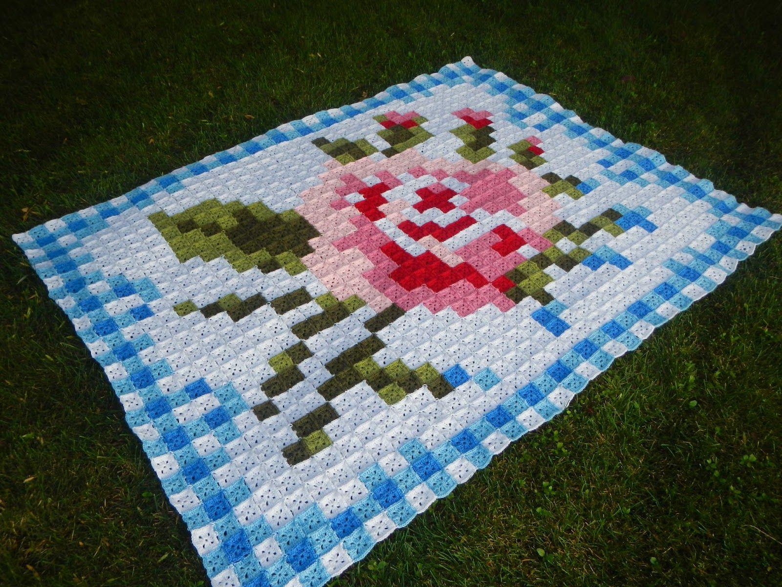 Apple Blossom Dreams: La Vie en Rose Afghan - purchase pattern on ...