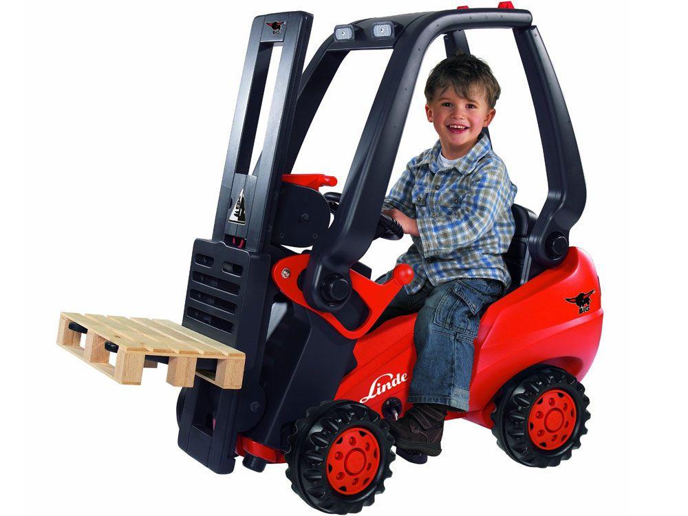 Big Linde Pedal Powered Child S Forklift Childrens Fork