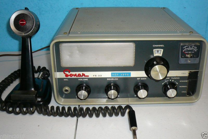 Vintage Sonar FS-23 CB Radio and Mic Working (#331769660222