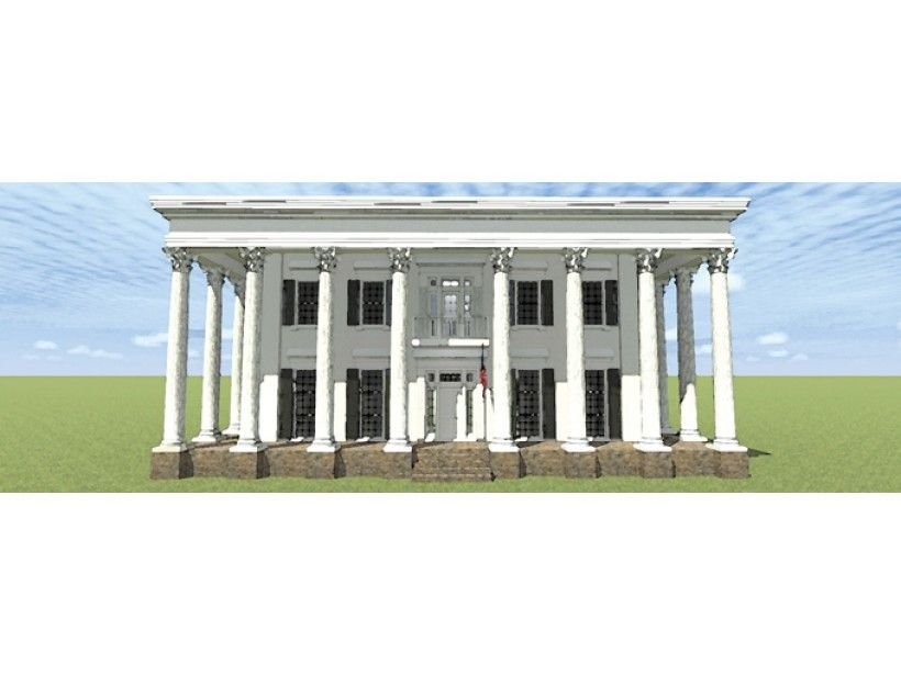 Greek Revival House Plan With 4500 Square Feet And 3 Bedrooms From Dream Home Source House Plan Code Dhsw Colonial Style Homes House Plans Greek Revival Home