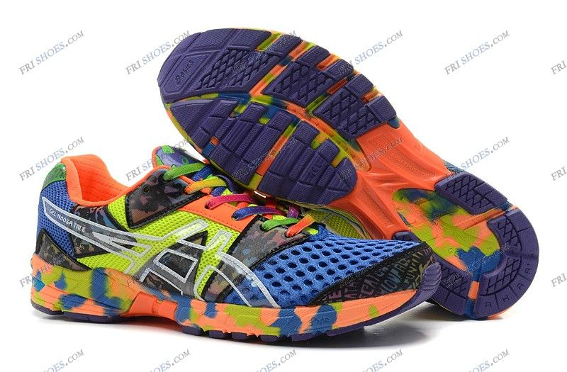 Asics Gel Noosa Tri 8 Blue/Orange/Green Mens Sports Running Shoes online shoes