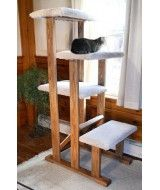 ed9f8e9bc792 Solid Wood Quad Perch Cat Tree**Make this? Use 1 2x4 and then parts ...