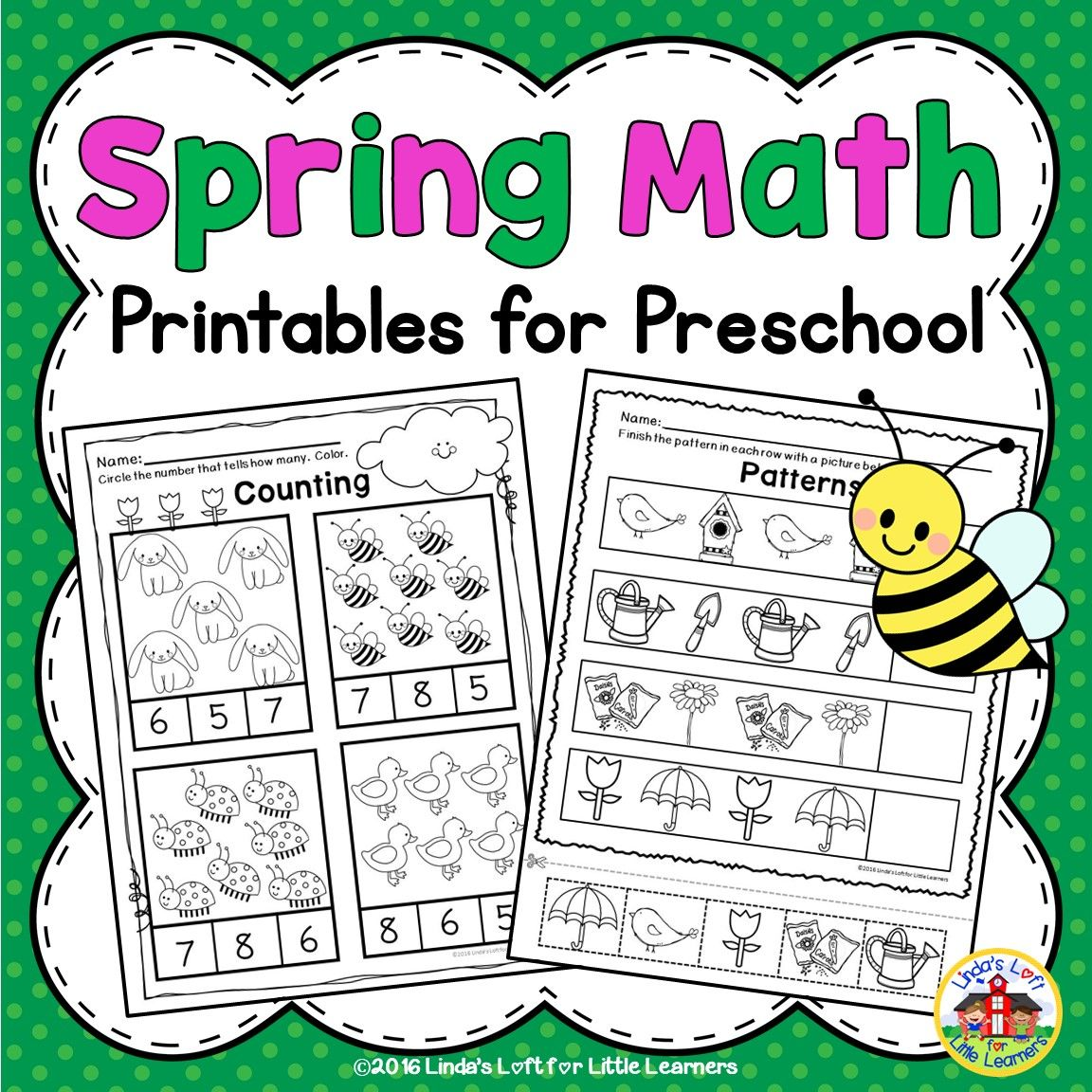 Spring Math Printables For Preschool With Images