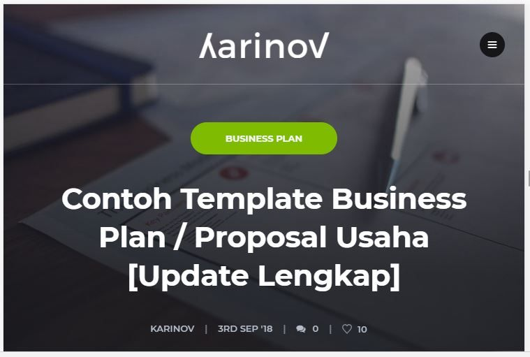 Contoh Template Business Plan Proposal Usaha Update Lengkap Proposal Membaca