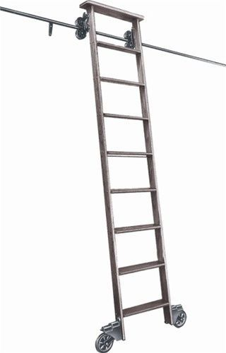 Best Cotterman Oak Rolling Library Track Ladder Kit 6 H To 9 6 400 x 300
