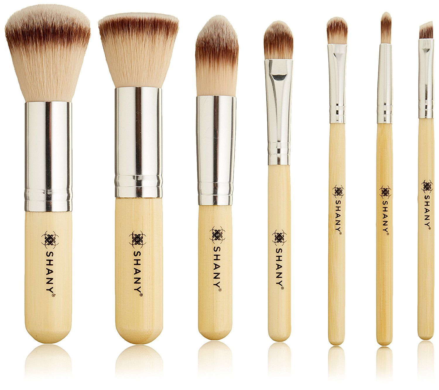 SHANY 7 Piece Petite Pro Bamboo Brush Set with Carrying