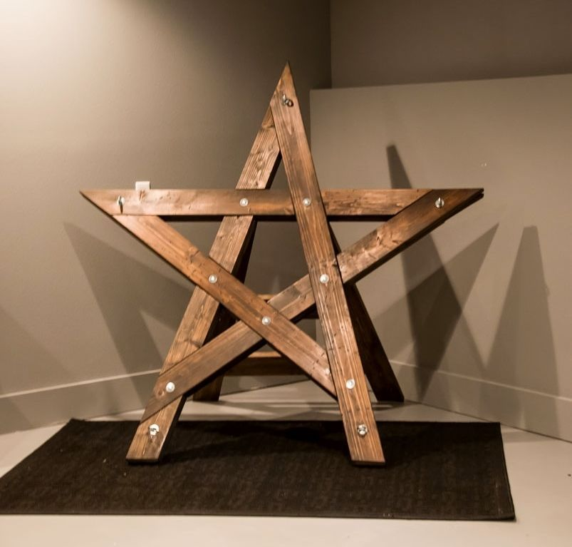 Charming Bondage Saint Andrew Cross Wooden Fetish Dungeon Furniture Restraint Devil  Star