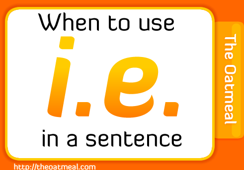 When to use i.e. in a sentence
